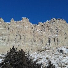 Yes, more Badlands against a brilliant blue sky.